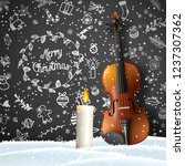 christmas background with with... | Shutterstock .eps vector #1237307362
