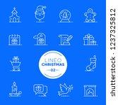 lineo white   christmas line... | Shutterstock .eps vector #1237325812