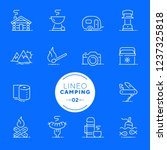 lineo white   camping and... | Shutterstock .eps vector #1237325818