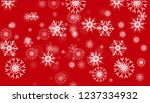 magic snowfall header isolated... | Shutterstock .eps vector #1237334932