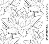 coloring seamless pattern ... | Shutterstock .eps vector #1237344148