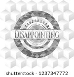 disappointing grey emblem.... | Shutterstock .eps vector #1237347772
