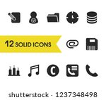 interface icons set with user ...