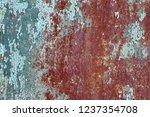 background of rusty metal wall... | Shutterstock . vector #1237354708