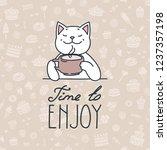 time to enjoy. illustration of...   Shutterstock .eps vector #1237357198