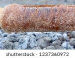 kurtos kalacs is traditional... | Shutterstock . vector #1237360972