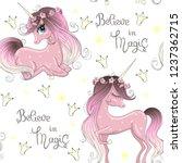 cartoon seamless pattern with... | Shutterstock .eps vector #1237362715