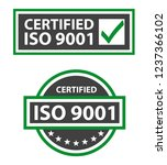 iso 9001 2015 certified quality ... | Shutterstock .eps vector #1237366102