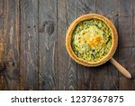 homemade puff pastry quiche... | Shutterstock . vector #1237367875