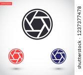 diaphragm vector icon 10 eps | Shutterstock .eps vector #1237377478
