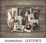 group of vintage family and... | Shutterstock . vector #123737872