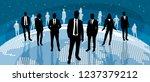 vector illustration of a global ... | Shutterstock .eps vector #1237379212