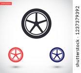 wheels vector icon 10 eps | Shutterstock .eps vector #1237379392