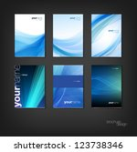 blue vector brochure   booklet... | Shutterstock .eps vector #123738346