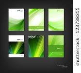 green vector brochure   booklet ... | Shutterstock .eps vector #123738355