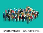 concept of leadership and... | Shutterstock .eps vector #1237391248