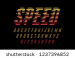 speed style font  alphabet and... | Shutterstock .eps vector #1237396852