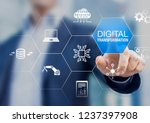 digital transformation... | Shutterstock . vector #1237397908