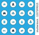 garment icons colored set with... | Shutterstock . vector #1237399015