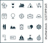 travel icons set with thongs ... | Shutterstock .eps vector #1237399165