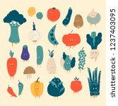 various organic vegetable...