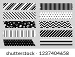 adhesive tape with black and... | Shutterstock .eps vector #1237404658