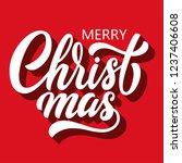 merry christmas brush hand... | Shutterstock .eps vector #1237406608