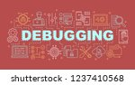 debugging word concepts banner. ... | Shutterstock .eps vector #1237410568