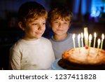 two beautiful kids  little... | Shutterstock . vector #1237411828