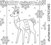 Coloring Page. Merry Christmas...