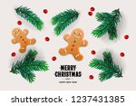 merry christmas and happy new... | Shutterstock .eps vector #1237431385