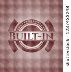 built in red emblem with... | Shutterstock .eps vector #1237433248