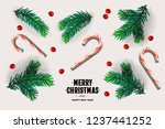 merry christmas and happy new... | Shutterstock .eps vector #1237441252