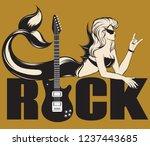 vector hand drawn trendy... | Shutterstock .eps vector #1237443685