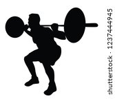 sportsman training in the gym | Shutterstock .eps vector #1237444945