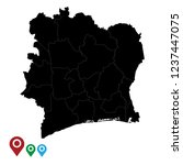 map of ivory coast  high... | Shutterstock .eps vector #1237447075