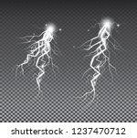 set of lightnings on... | Shutterstock .eps vector #1237470712