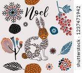 christmas print design  winter... | Shutterstock .eps vector #1237471942