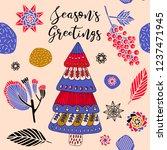 christmas print design  winter...   Shutterstock .eps vector #1237471945
