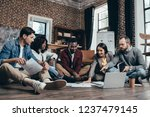 multiethnic group of colworkers ... | Shutterstock . vector #1237479145