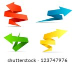 arrow web banners and labels in ... | Shutterstock . vector #123747976