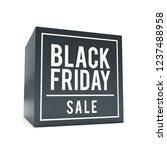 black friday sticker on black... | Shutterstock . vector #1237488958
