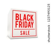 black friday sale sticker on... | Shutterstock . vector #1237493125