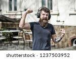 enjoy free songs everyday.... | Shutterstock . vector #1237503952