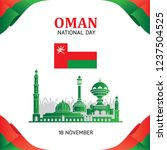the sultanate of oman happy...   Shutterstock .eps vector #1237504525