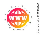 www sign icon. world wide web... | Shutterstock .eps vector #1237510948