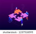 teambuilding concept   modern... | Shutterstock .eps vector #1237518595