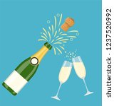 two champagne glasses with... | Shutterstock .eps vector #1237520992