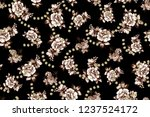 seamless random flowers... | Shutterstock . vector #1237524172