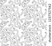 seamless vector black and white ...   Shutterstock .eps vector #1237527562